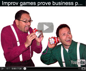 Video on The Improvfessionals duo entertainment program